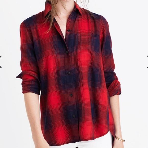Madewell Classic Ex-Boyfriend Shirt Wilder Plaid